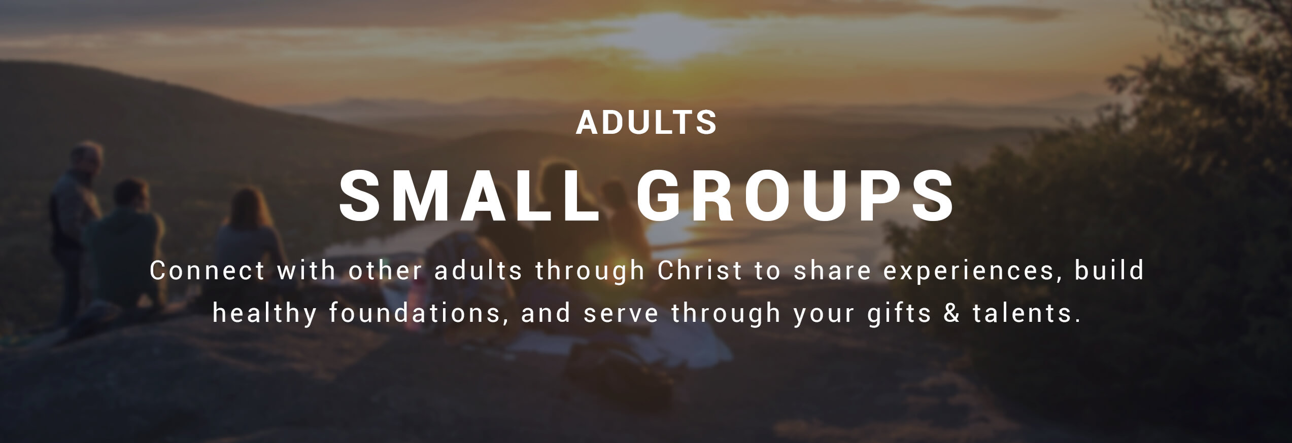 Small Groups Banner